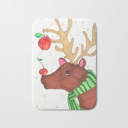 Wishing Rudolf  Bath Mat