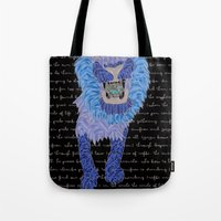 leon Tote Bags featuring Leon by Katarina Pavlovic