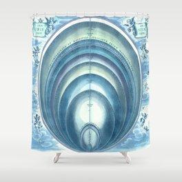 Harmonia Macrocosmica Plate 10 Blue Shower Curtain
