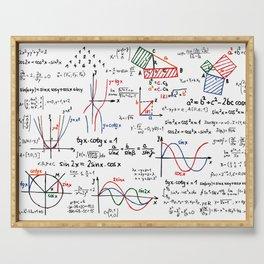 Math Cheat Sheet Serving Tray