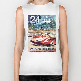 Le Mans poster, 1962, vintage poster, t-shirt, race poster Biker Tank