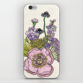 Bouquet- Beet and Yarrow iPhone Skin