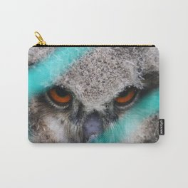 eyes of fire, young bird of prey portrait Carry-All Pouch