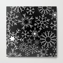 Invert snowflake pattern Metal Print