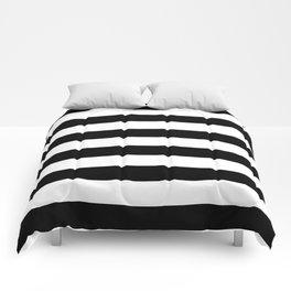 Black Bold Stripes Comforters