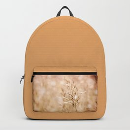 Sepia toned cereal grass inflorescence Backpack