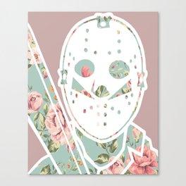 Floral Jason Friday the 13th Canvas Print
