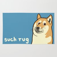 doge Area & Throw Rugs featuring Doge by evannave