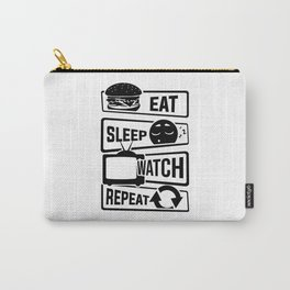 Eat Sleep Watch Repeat - TV Series Couch Binge Carry-All Pouch
