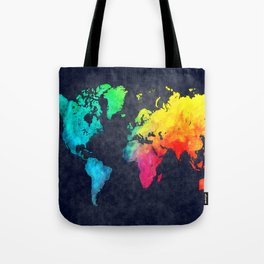 World map watercolor 6 Tote Bag