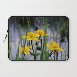 Marigolds on swamp Laptop Sleeve