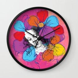 The encounter between Renaissance and Pop Art Wall Clock