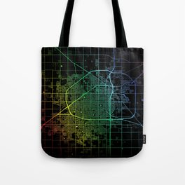 Lubbock TX USA City Map Rainbow City Map Art Print Tote Bag