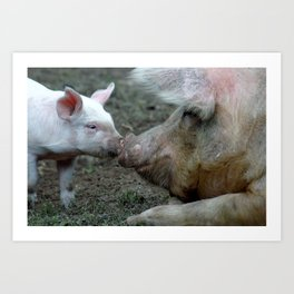 Piggy Love Art Print