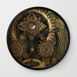 Rusty Vintage Steampunk Gears Wall Clock
