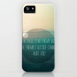 No Enemy iPhone Case