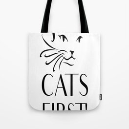 Cats first Tote Bag