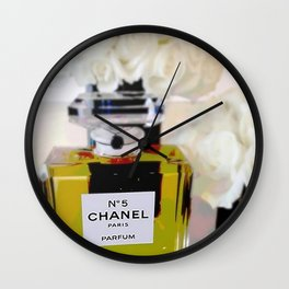 Edgy Take on a Fashion Icon Wall Clock