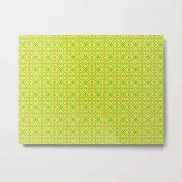 Patterns: Yellow Tiles Metal Print