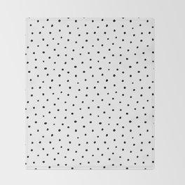 Polka Dots in Love Throw Blanket