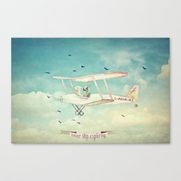 Never Stop Exploring III - THE SKY Canvas Print