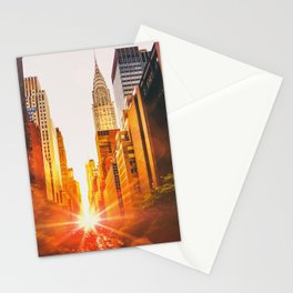 NYC Skyline Sunset Stationery Cards