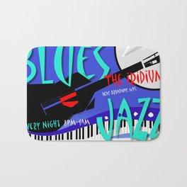 Modernist Blues / Jazz venue poster Bath Mat