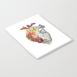 Flower Heart Spring White Notebook