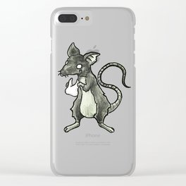 Dirty Rat bloody Teeth Clear iPhone Case