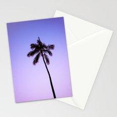 palm tree ver.violet Stationery Cards