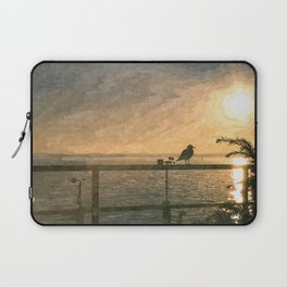 Bird and sunset Laptop Sleeve