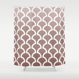 Classic Fan or Scallop Pattern 467 Beige Gradation Shower Curtain