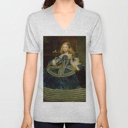 "Diego Velázquez ""Infanta Margarita Teresa in a Blue Dress"" Unisex V-Neck"
