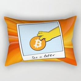 Bitcoin see you later Rectangular Pillow