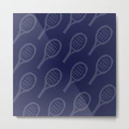 NAVY racquets Metal Print