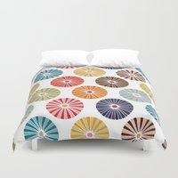 carousel Duvet Covers featuring carousel by Sharon Turner