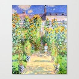 Monets Garden at Vetheuil Canvas Print