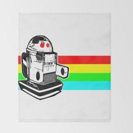 Robo Rainbow Throw Blanket