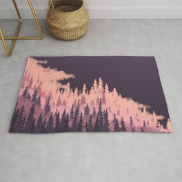 Pink and Purple Trees Rug