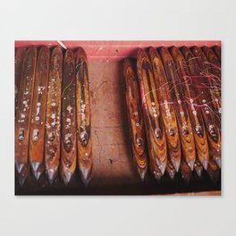 Weavers Tools, Inle, Burma Canvas Print