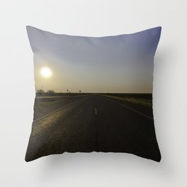 Empty Roads Throw Pillow