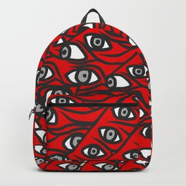 Freddie Eyeballs Red Backpack