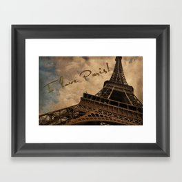 I Love Paris Framed Art Print