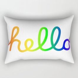 Oh Hello! Coloful Version Rectangular Pillow