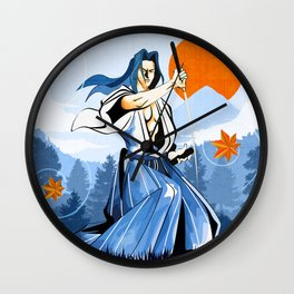 Fall maple leafs and Ukyo Wall Clock