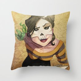 Lady Death's Looking at You Throw Pillow