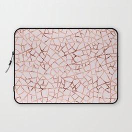 Crackle Rose Gold Foil Laptop Sleeve