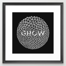 GROW - black Framed Art Print