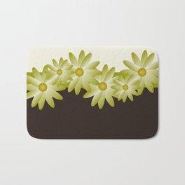 Green Daisy Bath Mat