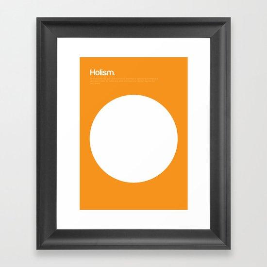 Holism Framed Art Print